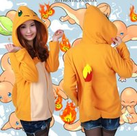 bear sweatshirts - Hot Women s Pokermon Charmander Hoodie Sweatshirt Jacket Relax Bear Long Sleeve Cute Size S M L XL