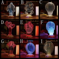 animals sculpture - 20PCS D Visual Bulb Sculpture Optical Illusion Usb LED Table Lamp Touch Romantic Holiday Night Light home Christmas decoration