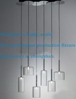 axo light - Modern Axo Light Spillray Grey Orange Crystal Red Glass Pendant Light Chandelier Living Room Light Lights