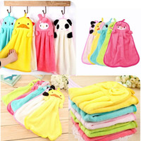 Wholesale Creative cartoon hanging towel towel super absorbent coral velvet towel thicker cloth kitchen wiping cloth towel