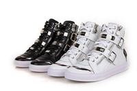 Precio de Hombres zapatos nuevos estilos-2017 nuevos zapatos de los royaums de las mujeres de los hombres PP zapatos de los nuevos PHILIPP del estilo Zapatos finos altos del clavo todos los zapatos de PLEIN de la marca de fábrica de los hombres de lujo blancos negros EUR 38-46