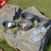 Wholesale Portable Cooking Nonstick Bowl Pots Pans Cookware Outdoor Tableware Cookware Camping Supplies Cookware Person Pot Sets