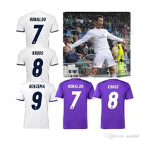 Wholesale Real madrid home jerseys Real madrid away champions league home Running Jerseys White shir