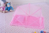 Wholesale 2016 New Arrival Mosquito Net for Little Baby with High Quality and Pink Blue Color Polyester Material H0013