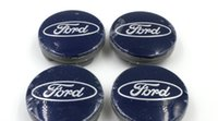 Wholesale 20pcs mm Blue Car Wheel Hub Center Cover Caps Emblem Logo Badge For Ford Fiesta Focus Fusion Mondeo Escap M211003AA