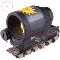 Wholesale Tactical Hunting Shooting New arrival Solar Power System Trijicon SRS Red Dot Sight With QD Mount With Kill Flash Black