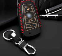 Wholesale Cow leather car key chain case for bmw F10 F20 F16 F30 F06 X3 X4 X5 X6 I I I M135 I I I I I I I I