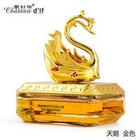 beautiful seat - Beautiful Golden Swan Car Decoration Car Perfume Seat Unique Fashion Car Air Freshener Holiday Gift High Quality Free Ship
