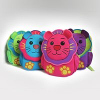 Kindergarten Children Cartoon Mix Color Schoolbag Lovely School Bags Nursery Kids Sac à dos 3D Lions pour Birthday Girft