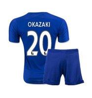 Wholesale 2016 season Leicester City set Soccer Jersey Vardy camisetas Riyad Mahrez season Leicester City Leicester camisas de futebol