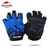Wholesale NatureHike Men Women Cycling Gloves Bike Bicycle Gloves GEL Shockproof Sports Half Finger Glove Size M XL High Quality