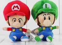 baby luigi plush - Super mario Bros baby mario baby luigi Plush Soft Stuffed doll toys cm for kids gift retail