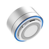 aluminum seal rings - A10 Mini Protable Speaker Aluminum Metal Bluetooth Speaker with LED Light Ring Super Bass Subwoofer Mini Wireless Stereo Speaker