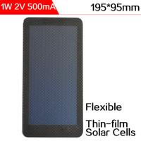 ELEGEEK 1W 2V Flexible Panel Solar De Célula Solar Silicio Amorfo 195 * 95 * 2mm Impermeable Mini Célula Solar Para Prueba De Sistema Solar De DIY o Educación