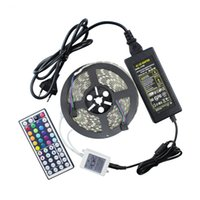 Wholesale RGB LED strip light IP65 Waterproof LEDs m A adaptor controller ETL CE ROSH SAA CB ISO9001 Standard years warranty