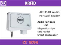 Wholesale ISO14443TYPEA mm audio jack Interface hf Smart Card Reader And Magnetic stripe card reader ACR35 HF Audio Port Jack Reader Free DHL