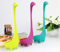 Wholesale Fedex or Ups Creative Nessie Ladle PP long Spoons Cute Nessie Spoons for Kids Childrens Infants