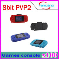 Wholesale 100PCS inch color LCD Games player PVP Station Bit Handheld game consoles Game card ZY PVP2