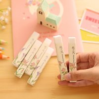 Wholesale Pics Cube Pencial Kawaii Eraser Cute School Supplies Stationery Erasers Correction Products
