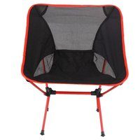 Wholesale Portable Folding Chair Beach Seat Lightweight Seat For Hiking Fishing Picnic Barbecue For Vocation Casual Camping Fishing Red