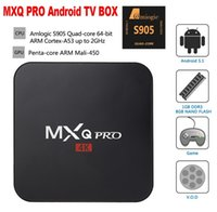 Wholesale Mxq Pro Android TV Box Amlogic S905 Digital TV Streaming Box Quad Core Android G wifi MXQ pro TV Box XBMC Fully Loaded