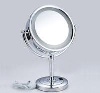 bathroom makeup table - Led Cosmetic Mirror with Light X brass Battery Makeup Mirror with Light Table Stand Mirror BM005