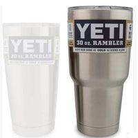 Wholesale YETI oz Cup Cooler YETI Rambler Tumbler For Travel Vehicle Beer YETI Mug Tumblerful Bilayer Vacuum Insulated Stainless Steel DHL FREE
