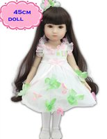 beautiful girls in skirts - 18inch Pretty NPK Full Vinyl American Girl Doll In Beautiful Skirt Like A Princess Doll Reborn As The Best Playmate For You Love