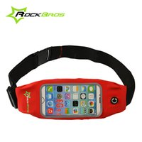Wholesale ROCKBROS quot quot Touch Screen Waterproof Sports Cycling Waist Bags Running Pockets Belt Case Phone Holder Bike Bicycle Pouch