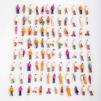 Wholesale 100pcs HO Scale Mix Painted Model Train Park Street Passenger People Figures