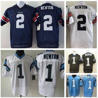 Wholesale 2016 Newest Men s CP CAM NEWTON White Blue Football Jerseys Good Quality