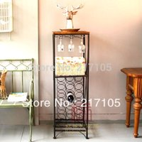 bar wine rack cabinet - beer wine whiskey glass frame cabinet bar Home Furnishing winery goblet iron wine rack hanging upside down