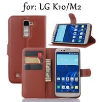 al por mayor cubierta del teléfono lg nexus-LG K10 Wallet Case Crazy caballo cuero teléfono cubierta Kickstand stand tarjeta titular accesorios para LG Nexus G5 G3 G4 LG K7