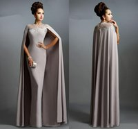 Wholesale Sexy African Dresses Pictures - African Prom Dresses With Jacket Wrap Jewel Beads Appliques Sheer Neck Formal Dresses Evening Gowns Women Wear Vestidos Arabic Party Dress