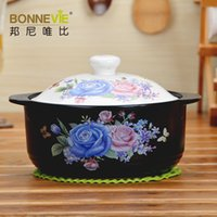 Wholesale Korea Style Ceramic Casseroles Marmite Thermal Cooker High Heat resistant Cookware Kitchen Tools Ceramic Stewing Pots