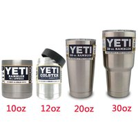 Wholesale 10oz oz oz oz YETI Rambler Colster Vacuum Insulated Tumbler Yeti Mugs Insulated Stainless Steel Car Beer Cup