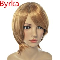 assured packaging - wigs Lace Front wigs Europe StyleGold Short Hair Full Wigs Wig Cap Women s Fashion Quality APM24 Free package mail Rest assured the order