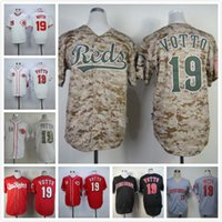 Wholesale Cincinnati Reds Joey Votto Jersey White Home Gray Road Red Camo Alternate Stitched Joey Votto Baseball Jerseys Shirt