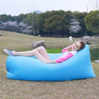 Wholesale Fast Inflation Inflatable Lounger Lazy Sleeping Compression Air Bag Portable Dream Chair in Stock