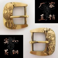 Wholesale Fashion Pure copper carving belt buckle with pewter finish FP suitable for cm wideth belt