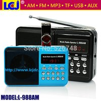 band music videos - Home Audio Video Equipments Radio cheap dual band portable mini pocket digital AM FM radio TF micro SD music player