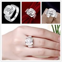 american flakes - Brand new pieces silver Ring inlaid stone flakes GSSR743 Factory direct sale fashion sterling silver finger ring