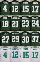 bart starr - 23 Damarious Randall Randall Cobb Bart Starr Julius Peppers Micah Hyde Green White New Football Jerseys