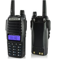 Wholesale Baofeng UV Walkie Talkie MHz MHz VHF UHF Dual Band Battery Saving with Built in FM Radio
