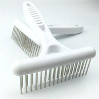 Wholesale pet grooming brush Rake comb deshedding tool Long Short Hair cat dog product comb Stainless Steel teeth Comb