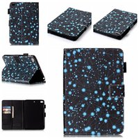 Wholesale Embossing blue constellation wallet and holder leather case bag for ipad mini