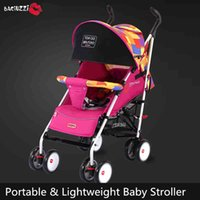 babies absorber - Baby pram Baby stroller can sit can be lying light baby trolley baby folding shock absorber