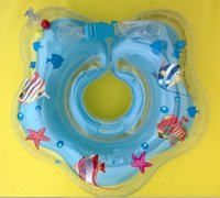 Yellow Inflatable  2016 New Cute Baby Kid Toddler Children Newborn Neck Swim Swimming Bath Ring Safety Aid Float Kids Neck Swimming Float