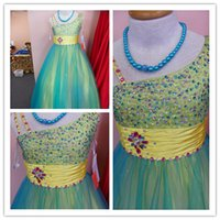 Wholesale Store Dresses Girls Wedding - 2016 Designer Custom A-line Green One Shoulder Bead Organza Flower Girl Pageant Dress Stores Dresses Fiest Comminute Dresses