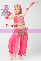 belly tube - 2016 new indian red tube kids belly dance coin belt hip scarf high quality dance sexy costume bellydance costumes
